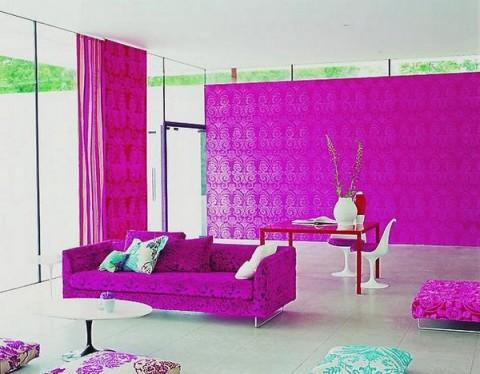 Decoración de interiores en rosa 2