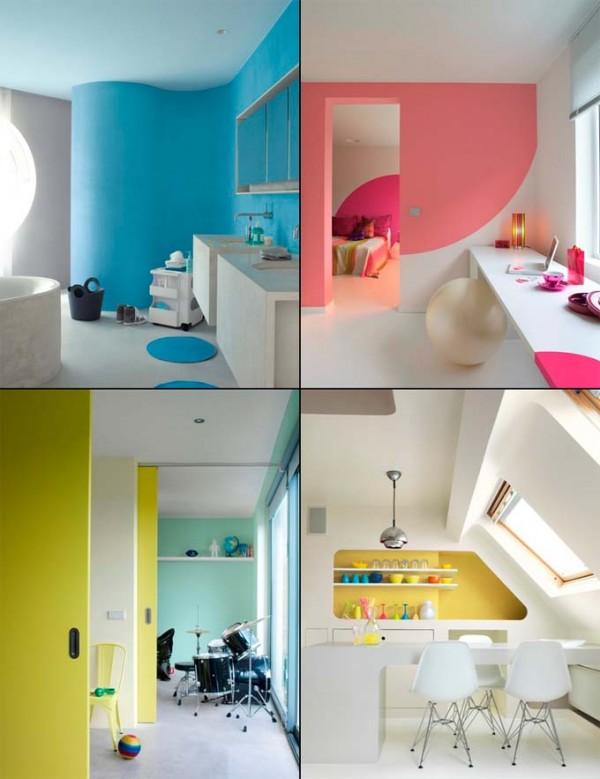 Llena de color los espacios 4