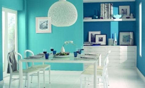 Paredes llenas de color - Colores azules para paredes ...
