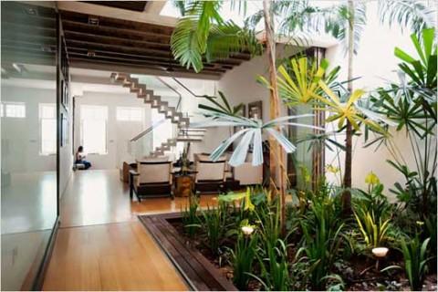 jardines en el interior