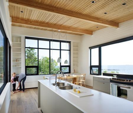 Estantes abiertos en la cocina 1