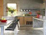 imagen Cocinas con estantes al aire