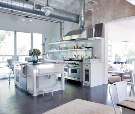 Estantes abiertos en la cocina 6