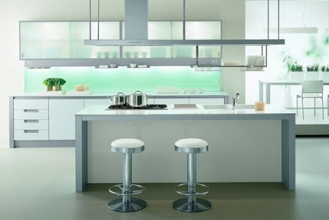 Cocinas modernas con isla central for Cocinas con islas en medio