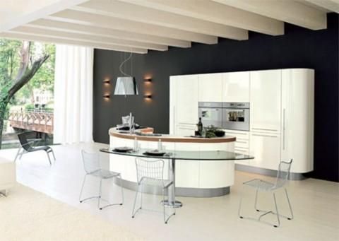 Cocinas modernas con isla central for Modelos de islas para cocinas pequenas