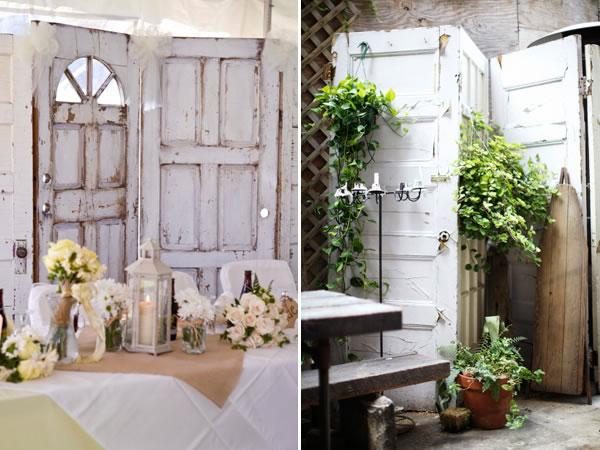 Propuestas decorativas para reutilizar puertas viejas - Biombos para jardin ...
