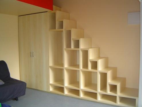 Aprovecha al máximo el hueco de la escalera