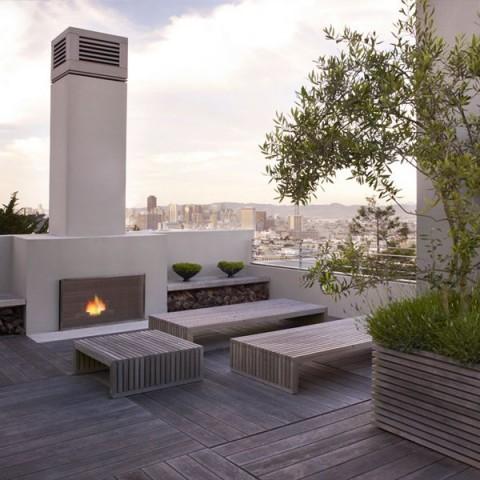 Terrazas de estilo minimalista - Vallas exteriores para casas ...