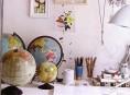 imagen Ideas para decorar con mapas y globos terráqueos