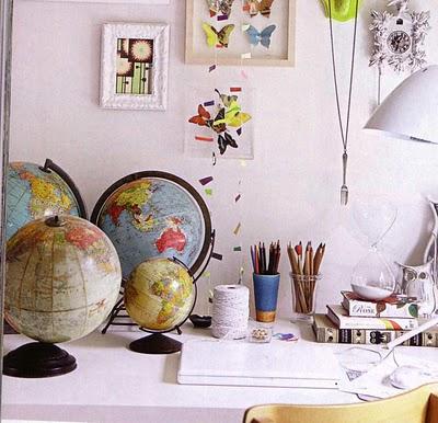 Ideas para decorar con mapas 2