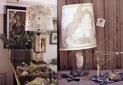 Ideas para decorar con mapas 6