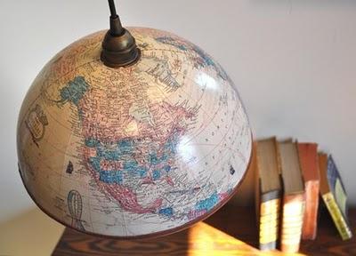 Ideas para decorar con mapas 7