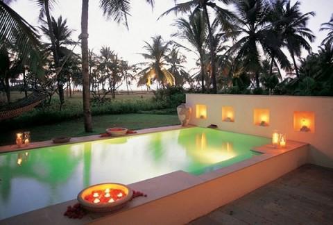 ideas para iluminar piscinas
