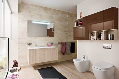 Baños con madera 1