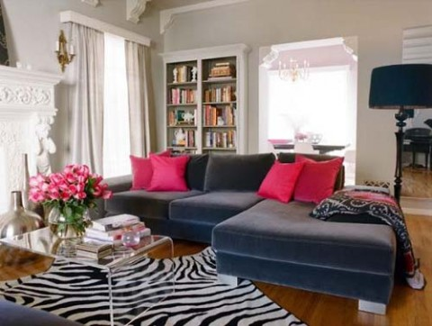 Complementos decorativos para sof s oscuros Sofas grises decoracion