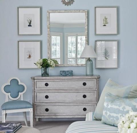Accesorios decorativos en color azul 1