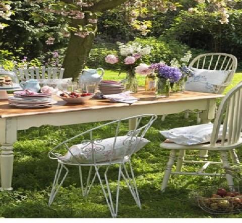 Decoración de estilo vintage para jardines 2