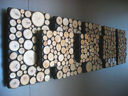 Decorar el hogar con troncos en rodajas - Decorar madera con pintura ...