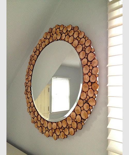 Decorar el hogar con troncos en rodajas for Espejos madera para decorar