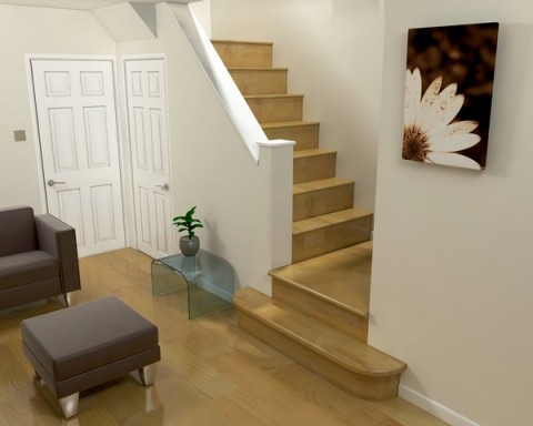 room interior with diseo escaleras interiores modernas