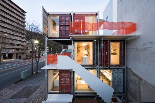 Estudio de arquitectura hecho con contenedores - Arquitectura contenedores maritimos ...