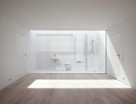 imagen Un cuarto de baño al fondo de la habitación