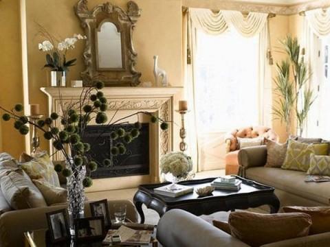 Decoraci n rom ntica en el living for Muebles de estilo romantico