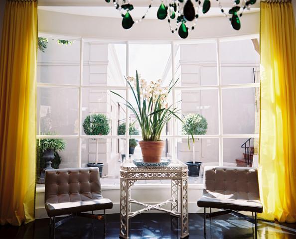Cortinas y accesorios para ventanas for Cortinas amarillas