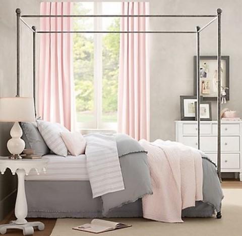 Habitaciones en rosa y gris 1