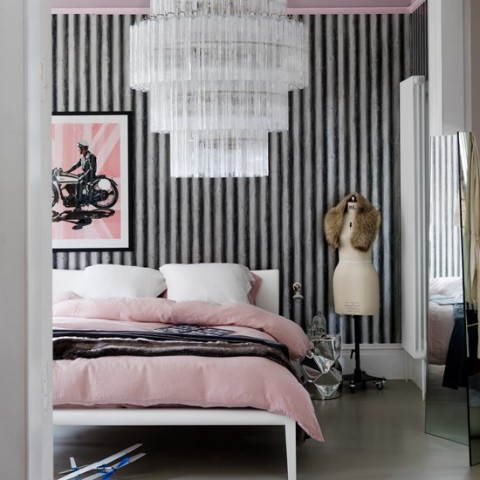 light pink and black bedroom decora tu habitaci 243 n en rosa y gris 19050