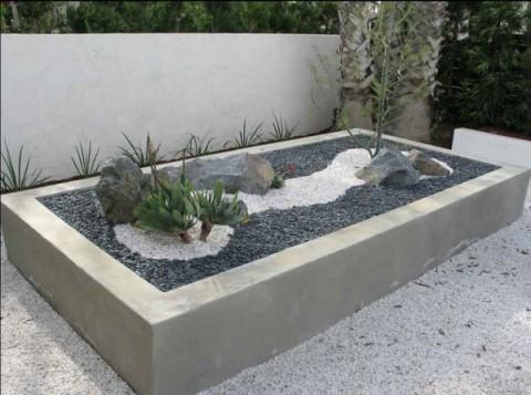 Decorar exteriores con piedras blancas 2
