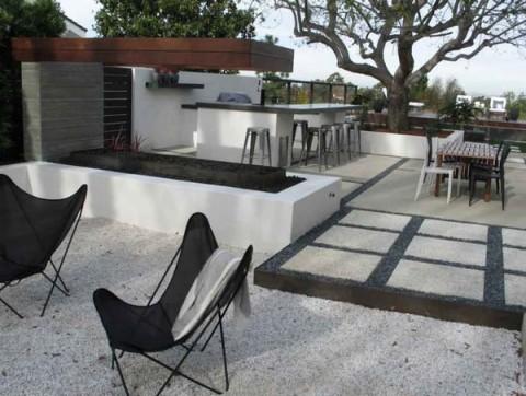 Decora jardines y terrazas con piedras blancas for Zen terras layouts