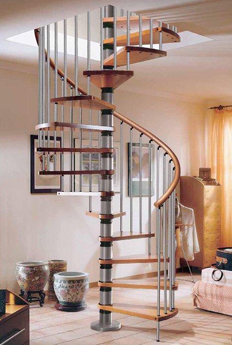 Escalera caracol en viviendas modernas - Escaleras de caracol modernas ...