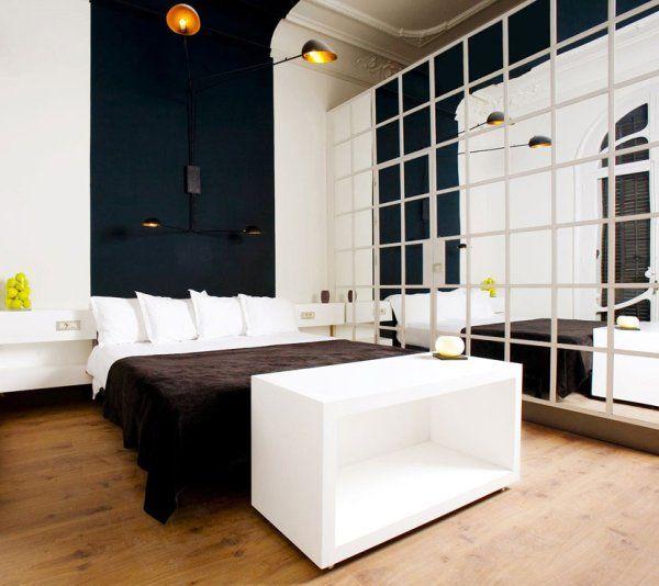 Propuestas para decorar la habitaci n con espejos grandes Espejos pequenos pared