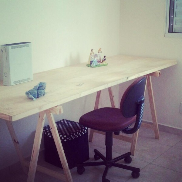 Mesas de caballetes para tu hogar - Mesa con caballetes ...