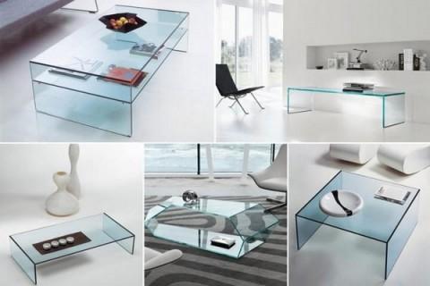 Mesas de living de cristal 1