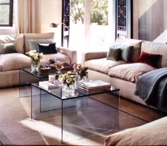 Mesas de centro de cristal 05 gu a para decorar - Decorar mesa de centro de cristal ...