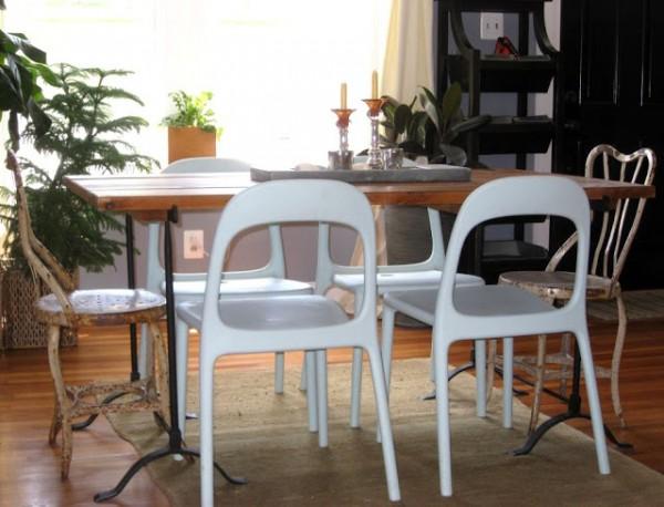 Muebles de jardín en el interior 1