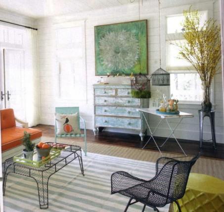 Muebles de jardín en el interior 5