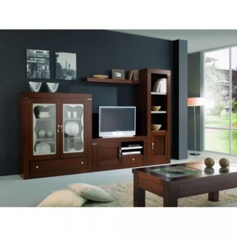 Muebles de madera para el interior - Muebles de madera maciza para salon ...