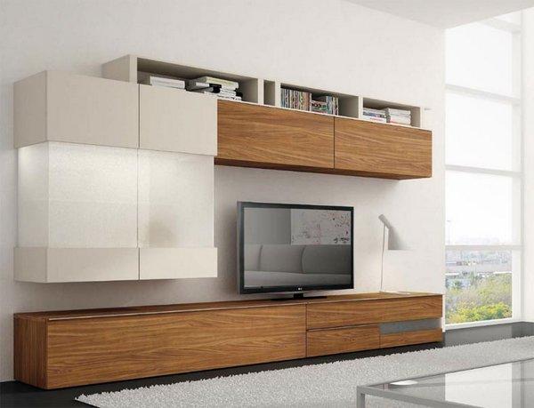 Muebles de madera para el interior for Muebles de salon de madera maciza