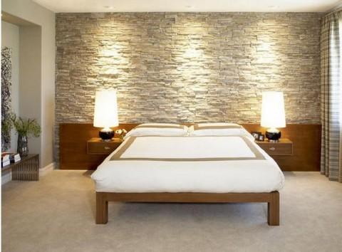 Paredes revestidas de piedra elegancia y solidez - Piedra natural para paredes interiores ...