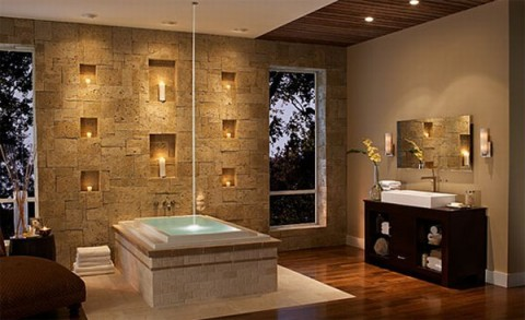 Paredes revestidas de piedra elegancia y solidez - Decorative stone for bathrooms seven design inspiring ideas ...