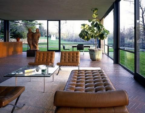 Salones acristalados panor micas de lujo for Casa minimalista cristal