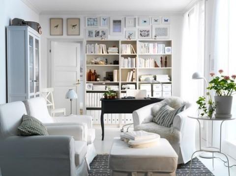 elegant livings en color blanco with salones clasicos modernos - Salones Clasicos Modernos