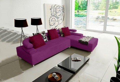 Salon Decorar Sofa Morado