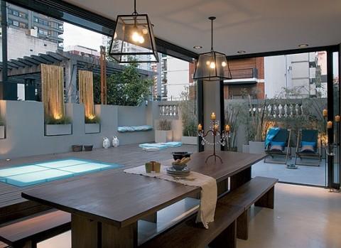 Terrazas de estilo urbano for Casa minimalista con quincho