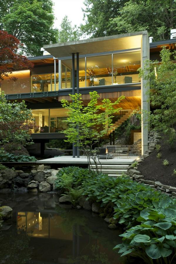 Una casa sumida en la vegetación 1
