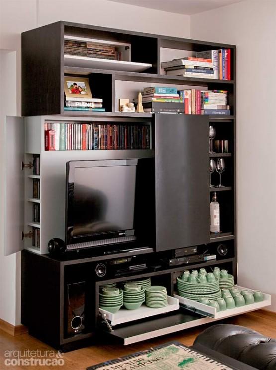 8 ideas de muebles funcionales para espacios peque os for Muebles para espacios reducidos living