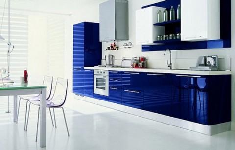 Preciosas Cocinas Modernas En Color Azul - Cocinas-preciosas